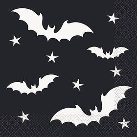 Black Bats Lunch Napkins (20)