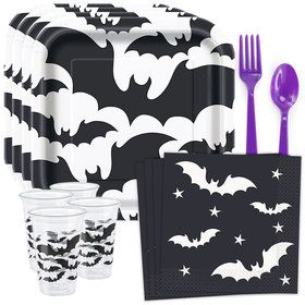 Black Bats Standard Tableware Kit (Serves 8)
