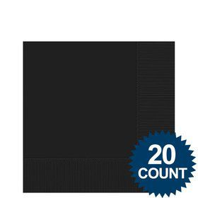 Black Beverage Napkins (20 Pack)