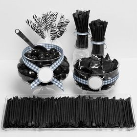 Black Candy Packaged Assortment - Candy Buffet Kit