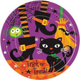 "Black Cat 9"" Luncheon Plates (8 Pack)"