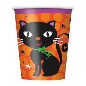 Black Cat 9oz Cups (8 Pack)