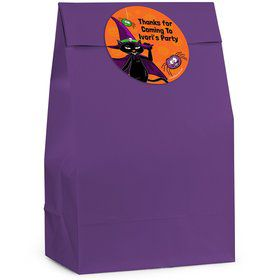 Black Cat Personalized Favor Bag (12 Pack)