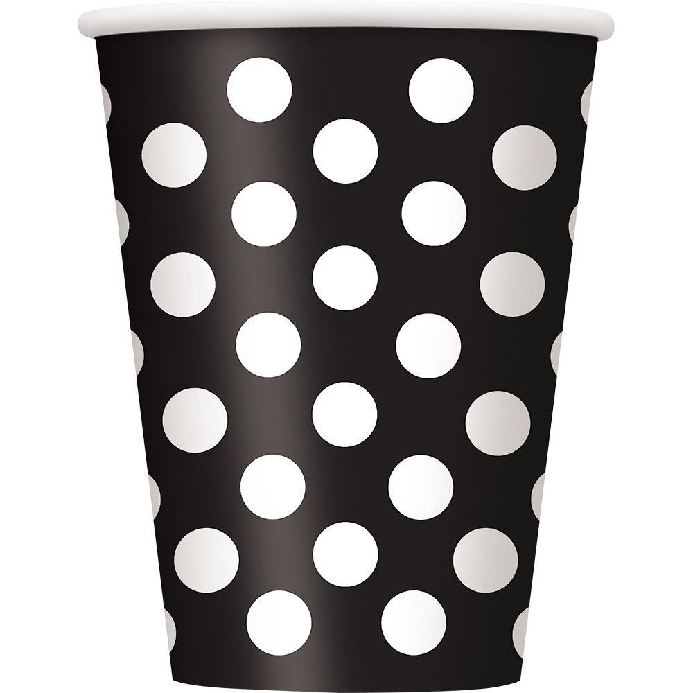Black Dots 12Oz Cups (6 Pack) BB37456