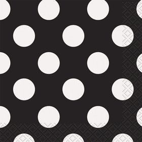 Black Dots Beverage Napkins (16 Count)