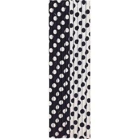 Black Dots Paper Straws (10 Count)