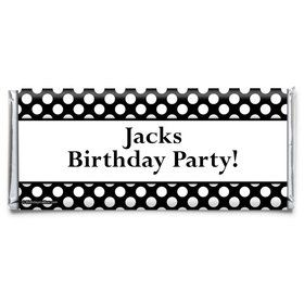 Black Dots Personalized Candy Bar Wrapper (Each)