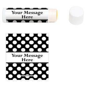 Black Dots Personalized Lip Balm (12 Pack)