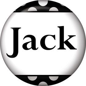 Black Dots Personalized Mini Magnet (Each)