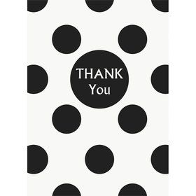 Black Dots Thank You Notes (8 Pack)