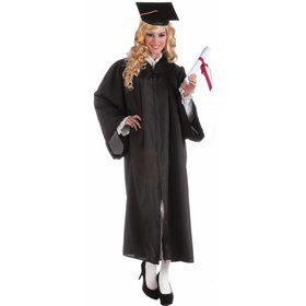 Black Graduation Adult Robe