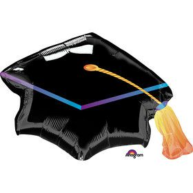 "Black Graduation Cap 31"" Balloon (Each)"