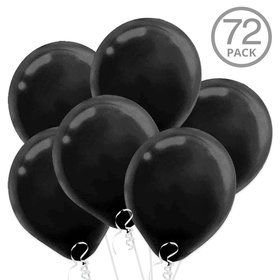 Black Latex Balloons (72 Count)