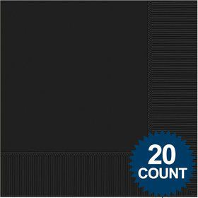 Black Luncheon Napkins (20 Pack)