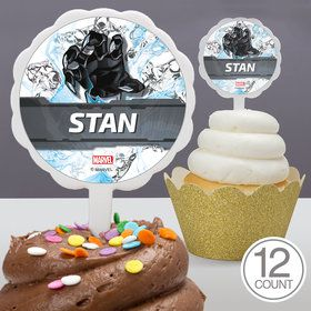 Black Panther Personalized Cupcake Picks (12 Count)
