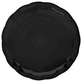 "Black Plastic 12"" Tray (Each)"