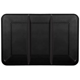 Black Plastic Tray with Compartments (Each)