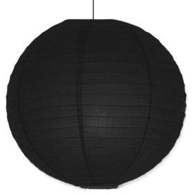 "Black Solid Color 10"" Paper Lantern Decorations (Each)"
