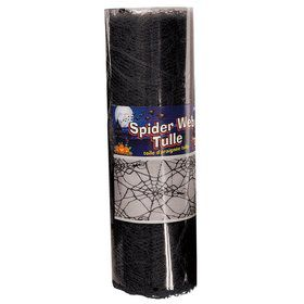 Black Spider Web Tulle 5Yds
