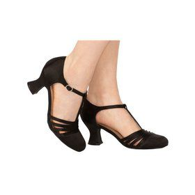 Black T-Strap Womens Shoes