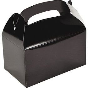 Black Treat Favor Boxes (6 Pack)