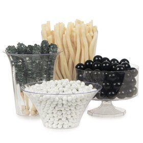 Black & White Candy Buffet Decorating Kit (Each)
