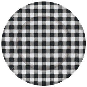 Black & White Check Paper Charger