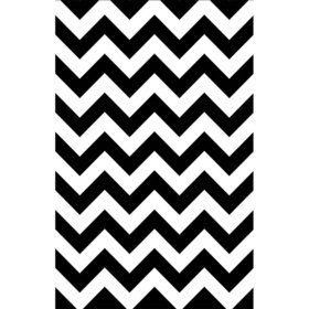 Black & White Chevron Paper Table Cover (Each)