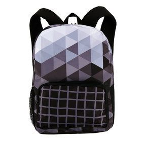 Black White Fractal Canvas Backpack