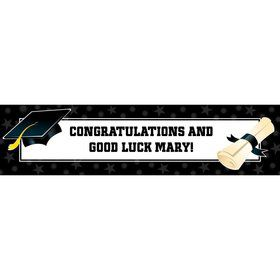Black & White Graduation Personalized Banner (Each)