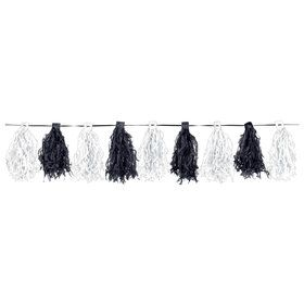 Black White Paper Tassel Garland