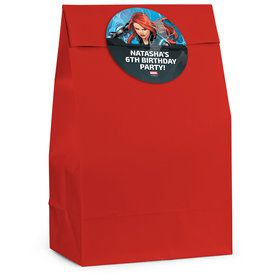Black Widow Personalized Favor Bag (12 Pack)