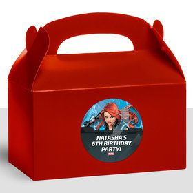Black Widow Personalized Treat Favor Boxes (12 Count)