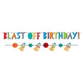 Blast Off Birthday Banners