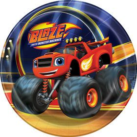 "Blaze and the Monster Machines 7"" Cake Plates (8 Count)"