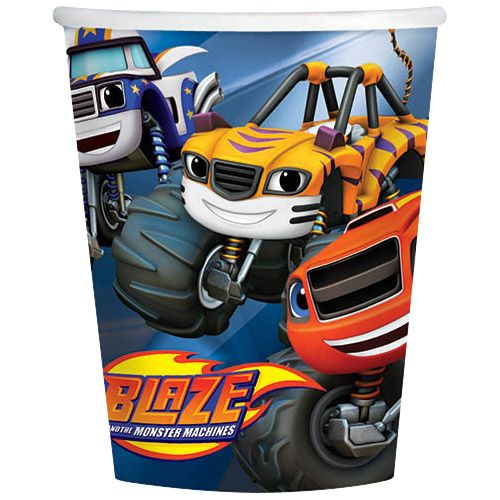 Blaze and the Monster Machines 9oz Cups (8 Count) - Party Supplies BB581582