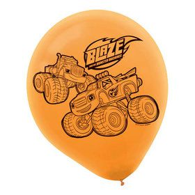Blaze and the Monster Machines Latex Balloons (6 Pack)