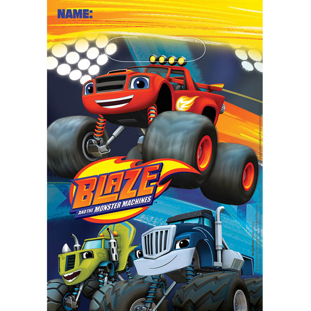 Blaze And The Monster Machines Loot Bags (8 Pack) BB371582