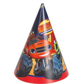 Blaze and the Monster Machines Party Hats (8 Count)