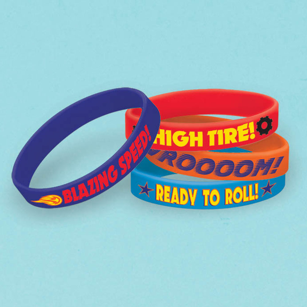 Blaze And The Monster Machines Rubber Bracelet Favors (4 Pack) BB396851