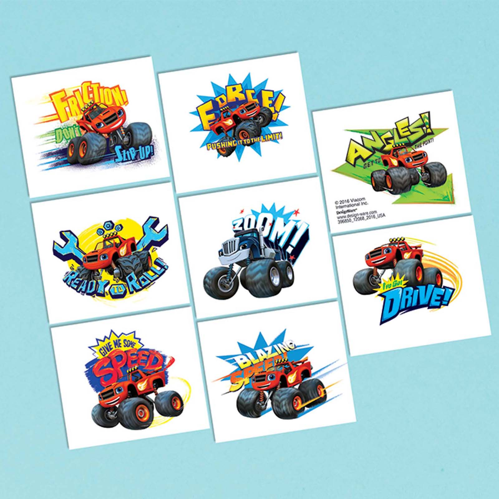 Blaze and the Monster Machines Tattoo Favors (16 Pack) - Party Supplies BB396850
