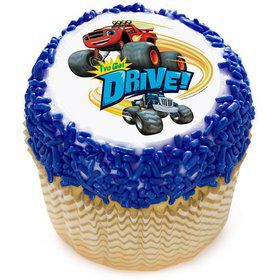 "Blaze I've Got Drive 2"" Edible Cupcake Topper (12 Images)"