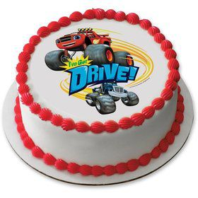 "Blaze I've Got Drive 7.5"" Round Edible Cake Topper (Each)"