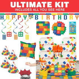 Block Party Birthday Ultimate Tableware Kit (Serves 8)