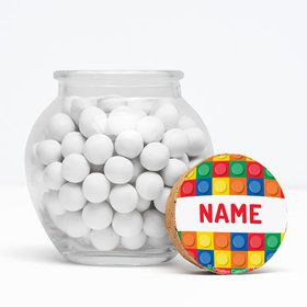 "Block Party Personalized 3"" Glass Sphere Jars (Set of 12)"