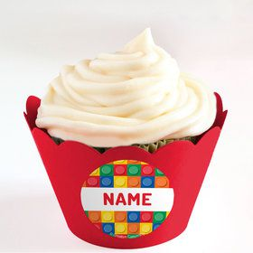 Block Party Personalized Cupcake Wrappers (Set of 24)