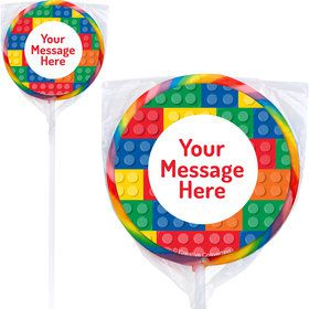 Block Party Personalized Lollipops (12 Pack)