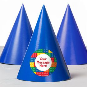 Block Party Personalized Party Hats (8 Count)