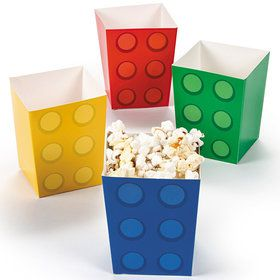 Block Party Popcorn Boxes (24 Pack)