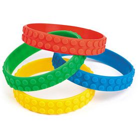 Block Party Rubber Bracelet (12 Pack)